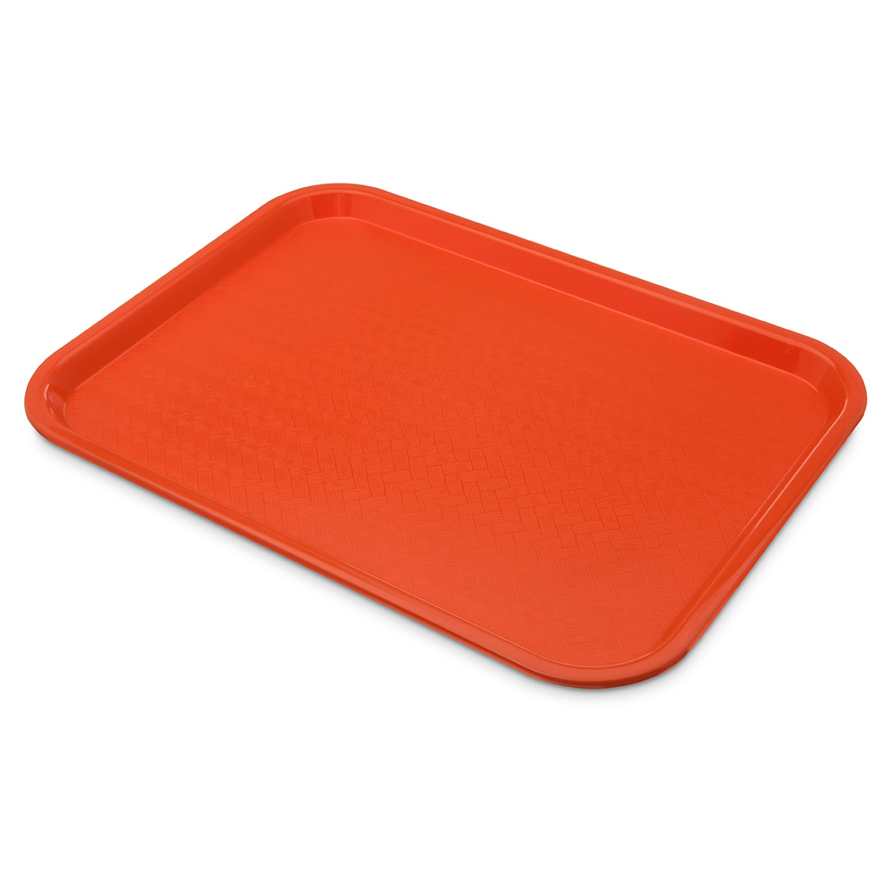 Carlisle CT121624 Fast Food Tray, Rectangular, 12 x 16 in, Polypropylene, Orange