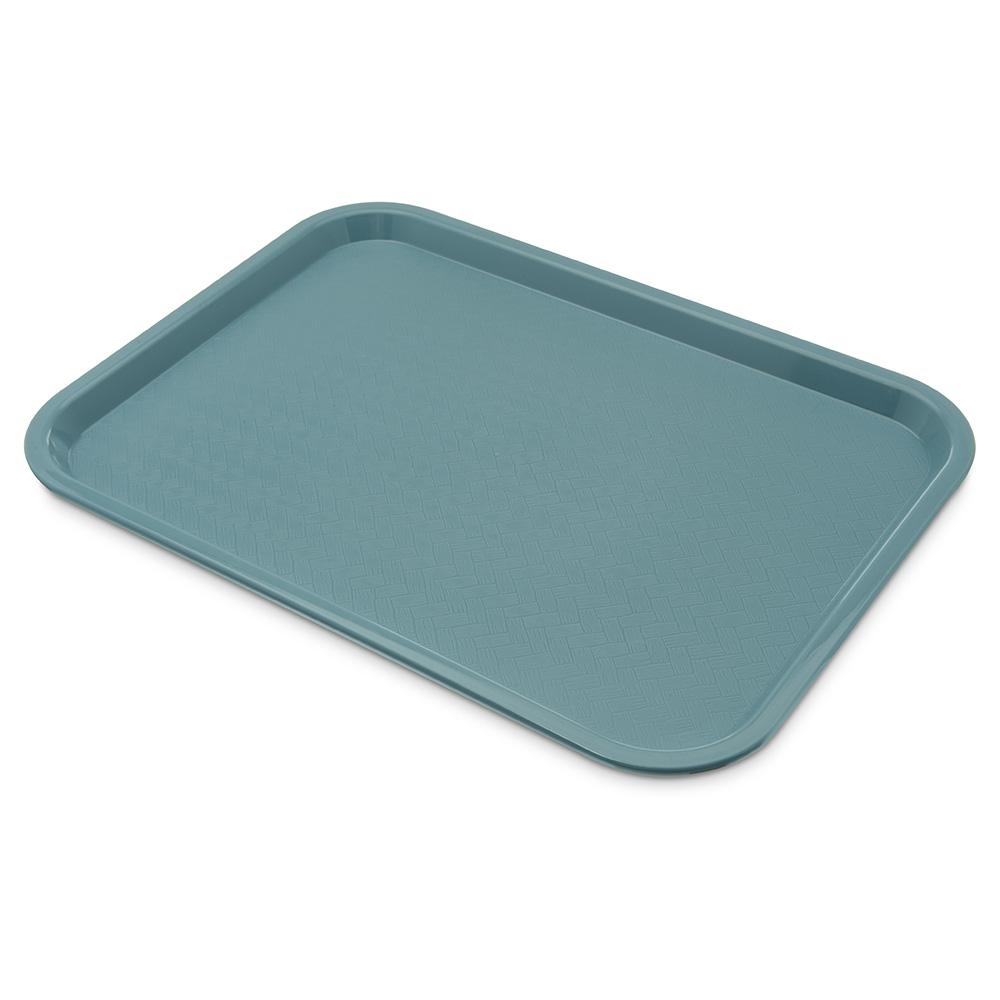 Carlisle CT121659 Fast Food Tray, Rectangular, 12 x 16 in, Polypropylene, Slate Blue