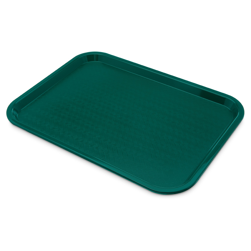 Carlisle CT121615 Fast Food Tray, Rectangular, 12 x 16 in, Polypropylene, Teal