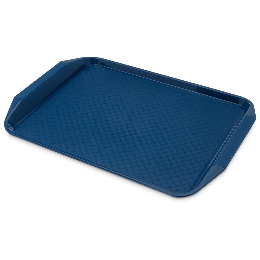 "Carlisle CT121714 Rectangular Cafe Tray - 17x12"" Blue"