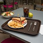 """Carlisle CT141869 Rectangular Cafe Tray - 17.875"""" x14"""", Polypropylene, Chocolate"""