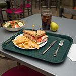 "Carlisle CT141808 Rectangular Cafe Tray - 17.875"" x14"", Polypropylene, Forest Green"
