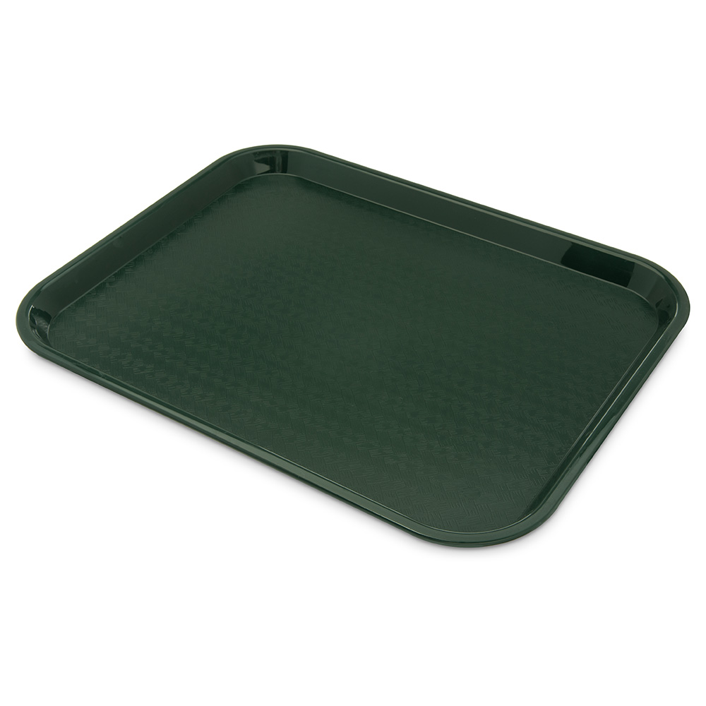 Carlisle CT141808 Fast Food Tray, 14 x 18-in, Polypropylene, Forest Green