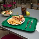 "Carlisle CT141809 Rectangular Cafe Tray - 17.875"" x14"", Polypropylene, Green"