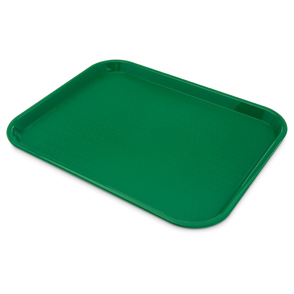 Carlisle CT141809 Fast Food Tray, Rectangular, 14 x 18 in,  Polypropylene, Green
