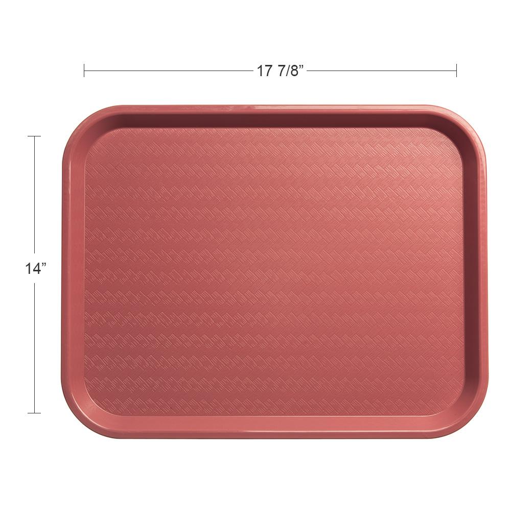 """Carlisle CT141856 Rectangular Cafe Tray - 17.875"""" x14"""", Polypropylene, Mauve"""