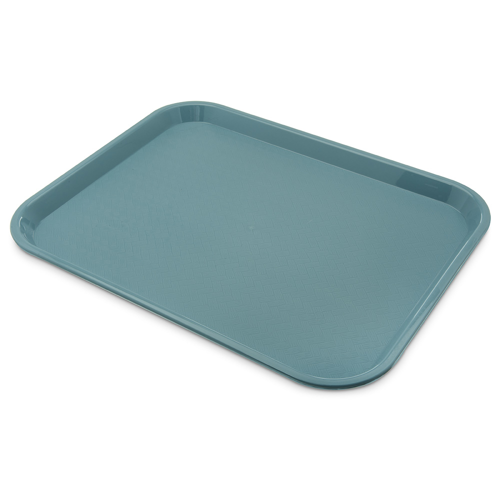 Carlisle CT141859 Fast Food Tray, Rectangular, 14 x 18 in,  Polypropylene, Slate Blue