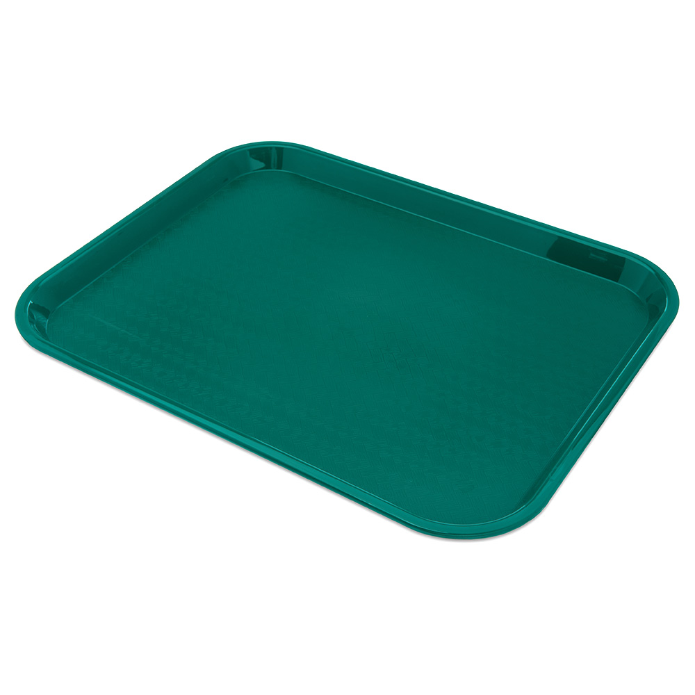 Carlisle CT141815 Fast Food Tray, Rectangular, 14 x 18 in,  Polypropylene, Teal