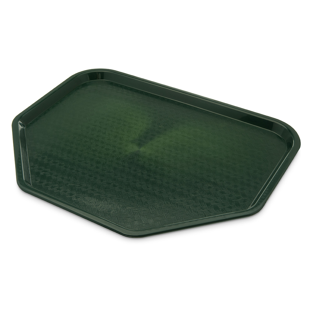 "Carlisle CT1713TR08 Trapezoid Cafe Tray - 18"" x 14"", Polypropylene, Forest Green"