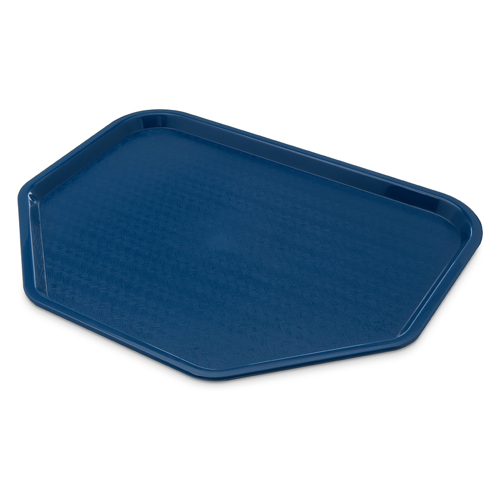"Carlisle CT1713TR14 Trapezoid Cafe Tray - 18x14"" Blue"
