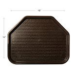 "Carlisle CT1713TR69 Trapezoid Cafe Tray - 18"" x 14"", Polypropylene, Chocolate"