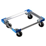 "Carlisle DL182623 Dolly - Open Frame Design, 4"" Casters, Aluminum"