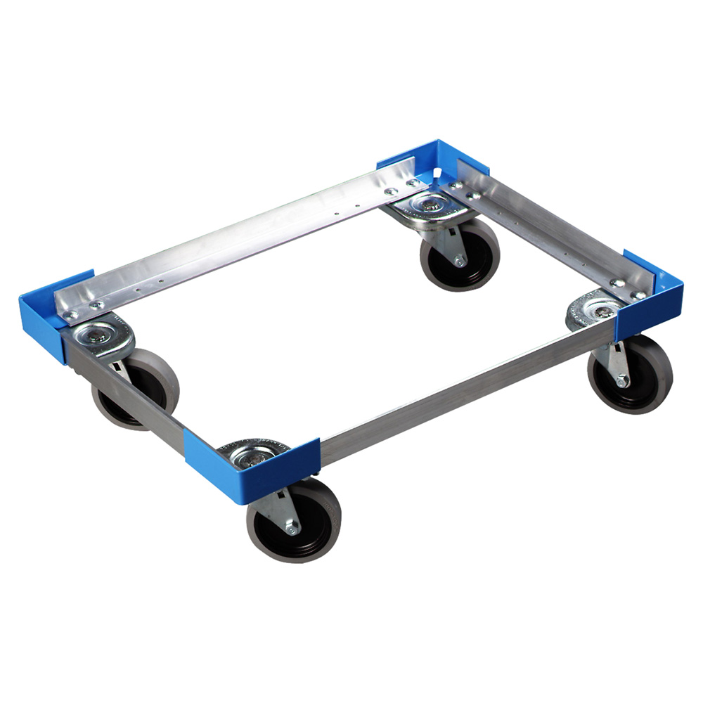 Carlisle DL30023 Pan Carrier Dolly w/ Push Handle, For 2-PC300N Pan Carriers, Aluminum
