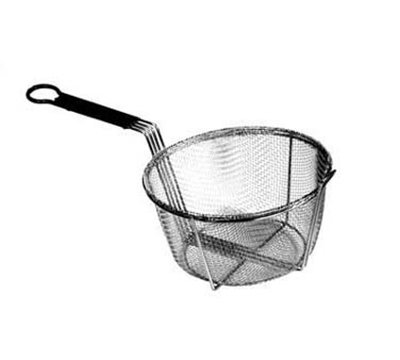 "Carlisle 601029 9.75"" Round Fryer Basket, Nickel Plated"