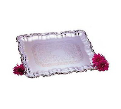 "Carlisle 608918 Rectangular Celebration Tray - 21x15"" Chrome-Plated"