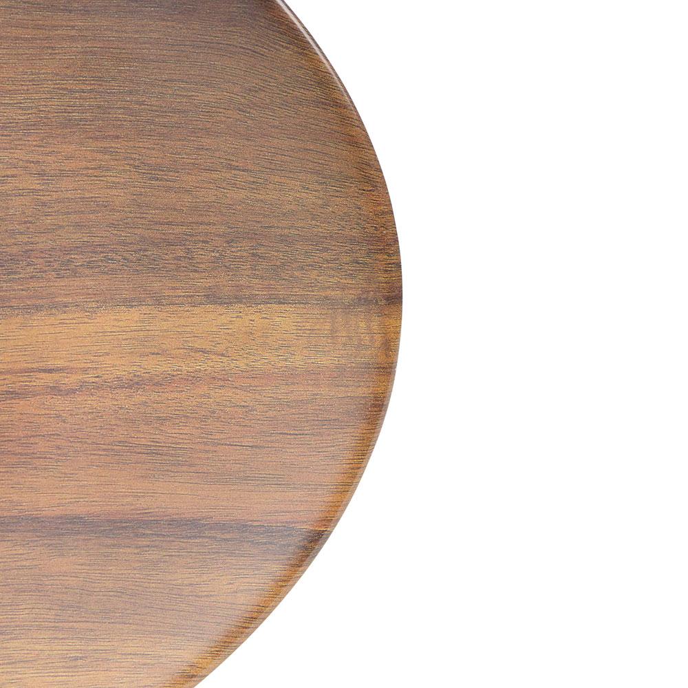 "Carlisle EAG0469 Oval Platter - 18"" x 15"", Melamine, Acacia Grain"