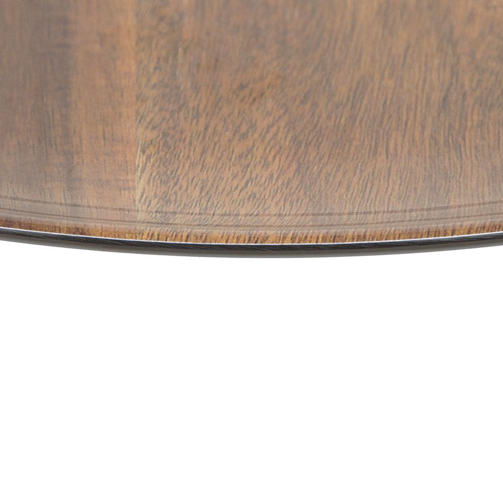 "Carlisle EAG0669 18"" Round Platter - Melamine, Acacia Grain"