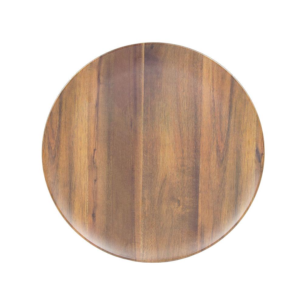 "Carlisle EAG0669 Epicure Round Platter - 18""D, Acacia Grain"