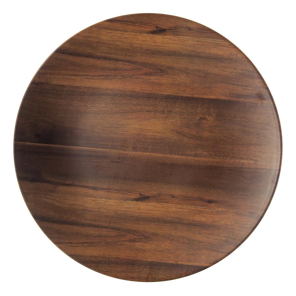 "Carlisle EAG1069 19.25"" Round Platter - Melamine, Acacia Grain"