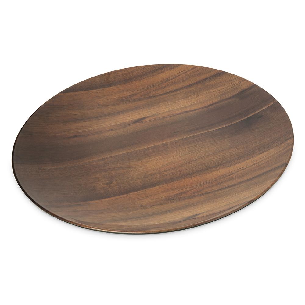 "Carlisle EAG1069 Epicure Round Platter - 19.25""D, Acacia Grain"