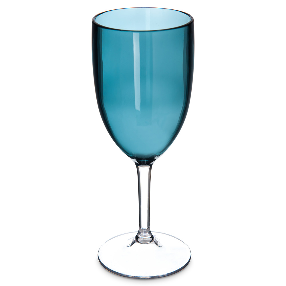 Carlisle EP10015 10-oz Epicure Goblet - Plastic, Aqua