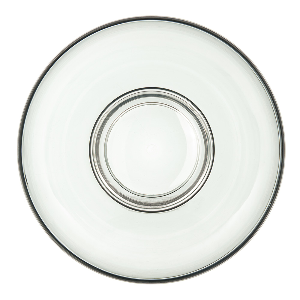 Carlisle EP1018 96-oz Epicure Bowl - Plastic, Smoke Gray