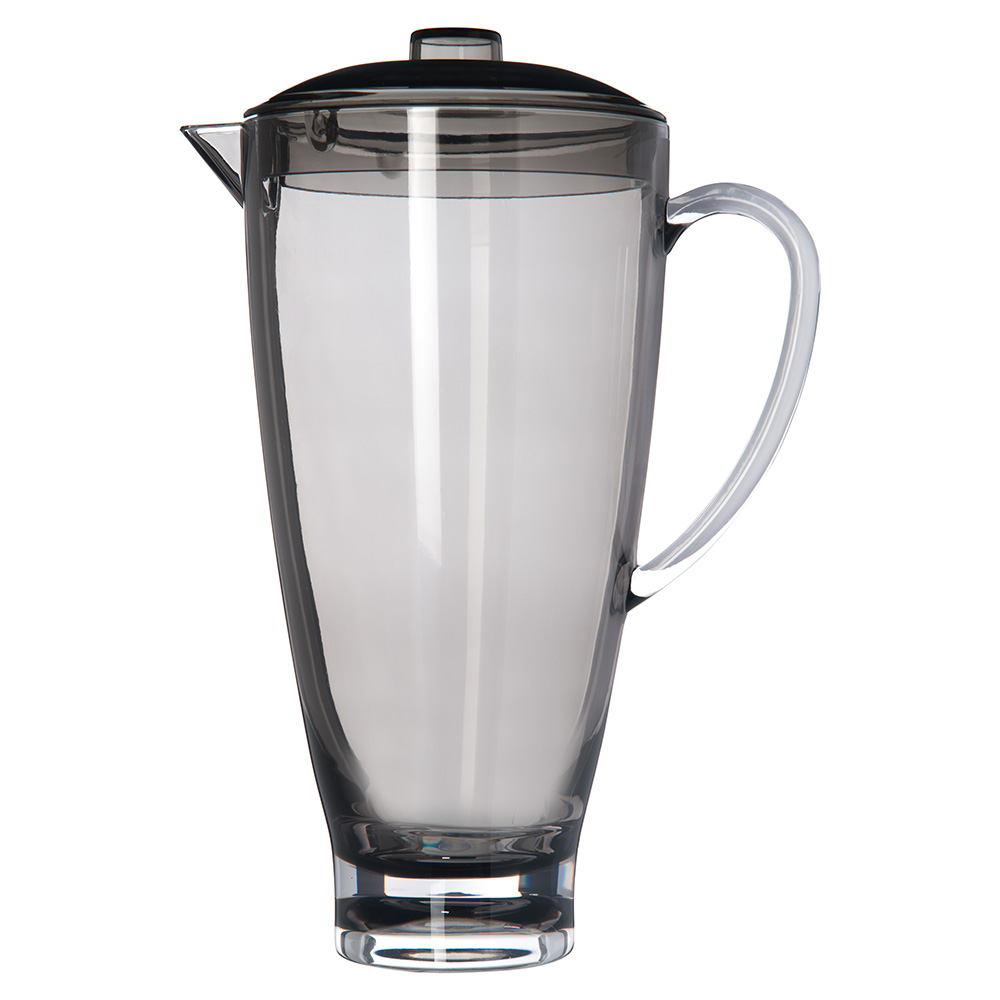 Carlisle EP3018 74-oz Pitcher w/ Lid, Plastic, Smoke Gray
