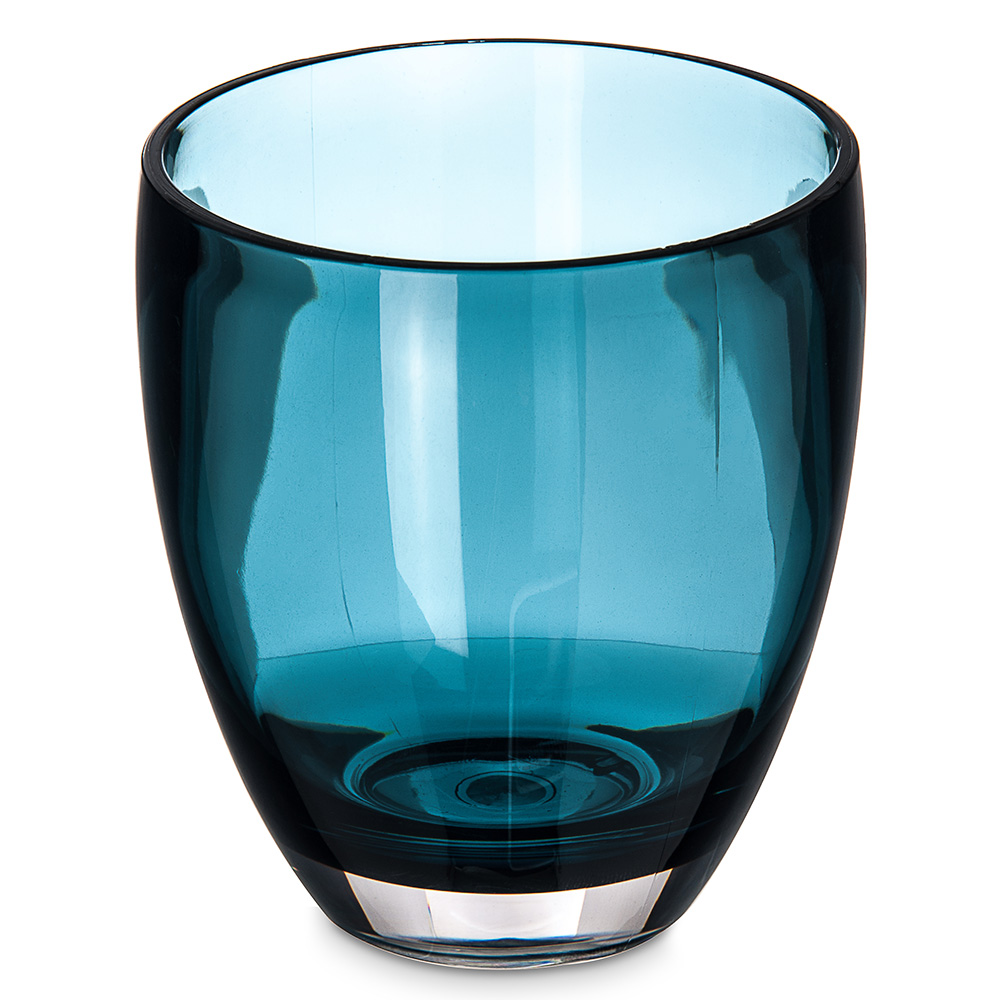 Carlisle EP5015 14-oz Double Old Fashioned Glass - Plastic, Aqua