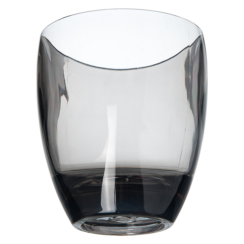 Carlisle EP5018 14-oz Double Old Fashioned Glass - Plastic, Smoke Gray