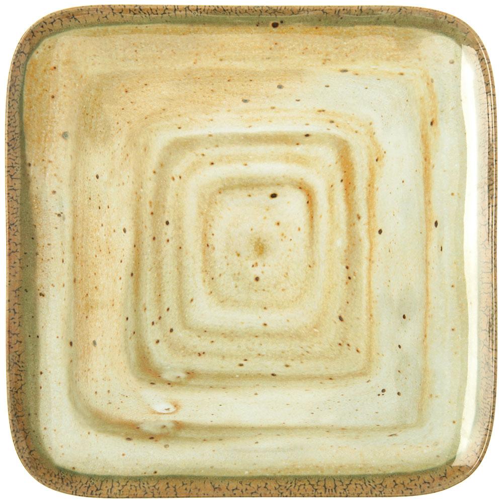 "Carlisle GA5500970 12.5"" Gathering Square Dinner Plate - Melamine, Adobe"