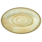 "Carlisle GA5501470 Gathering Oval Platter - 12"" x 8"", Melamine, Adobe"