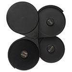 "Carlisle GR0903 3-Tier Glass Rimmer w/ 6.25"" Round Swing Trays, Acrylic, Black"