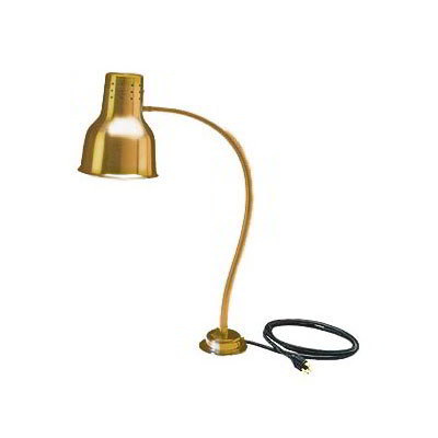 Carlisle HL8185G00 Heat Lamp - Counter-Mount, Single, Anodized Gold Finish 110-120v