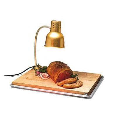 "Carlisle HL8185GB21 Flexiglow Heat Lamp, 24"" Arm, Drip Pan, Cutting Board, Gold Aluminum"