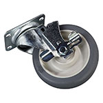"Carlisle IC225CSB00 5"" Swivel Caster with Brake - Gray"