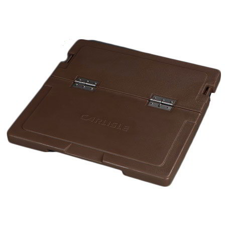 Carlisle IC225LH01 Cateraide Hinged Lid Assembly - Polyethylene, Brown