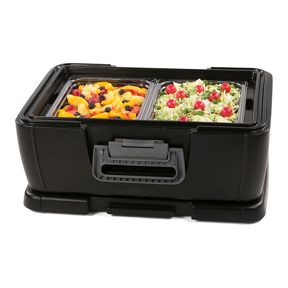 Carlisle IT16003 18-qt Cateraide Top Loading Insulated Food Carrier - Onyx Black