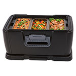 Carlisle IT18003 24-qt Cateraide Top Loading Insulated Food Carrier - Onyx Black