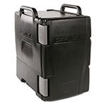 Carlisle IT40003 6-Pan End Loading Cateraide Insulated Food Carrier - Onyx Black