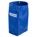 Carlisle JC194614 25-gal Janitorial Cart Replacement Bag, Rip-Stop Nylon, Blue