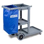 Carlisle JC194614 25-gal Janitorial Cart Replacement Bag, Rip-Stop Nylon, Blue