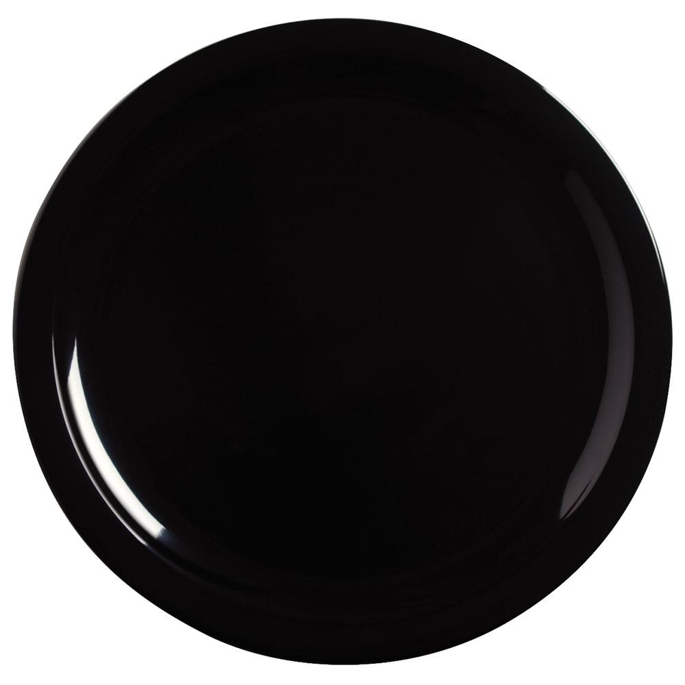 "Carlisle KL11603 10"" Kingline Dinner Plate - Melamine, Black"