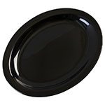 "Carlisle KL12703 Oval Kingline Platter - 12x9"" Melamine, Black"