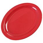 "Carlisle KL12705 Oval Kingline Platter - 12x9"" Melamine, Red"