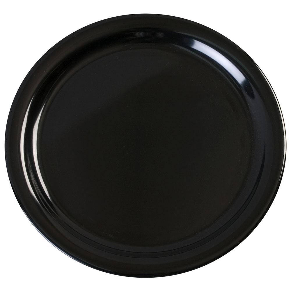 "Carlisle KL20003 9"" Kingline Dinner Plate - Melamine, Black"