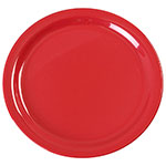 "Carlisle KL20005 9"" Kingline Dinner Plate - Melamine, Red"