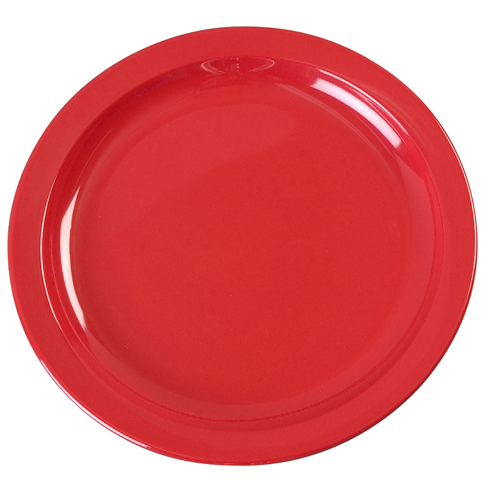 "Carlisle KL20105 7-1/4"" Kingline Sandwich Plate - Melamine, Red"