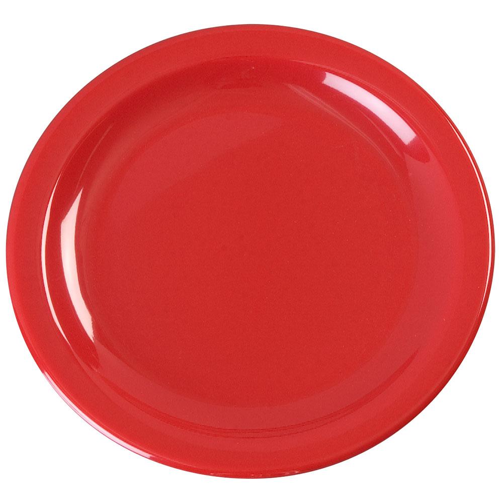 "Carlisle KL20405 6-1/2"" Kingline Pie Plate - Melamine, Red"