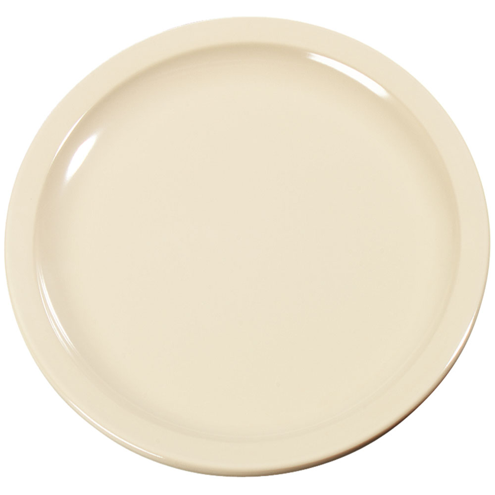 "Carlisle KL20425 6-1/2"" Kingline Pie Plate - Melamine, Tan"