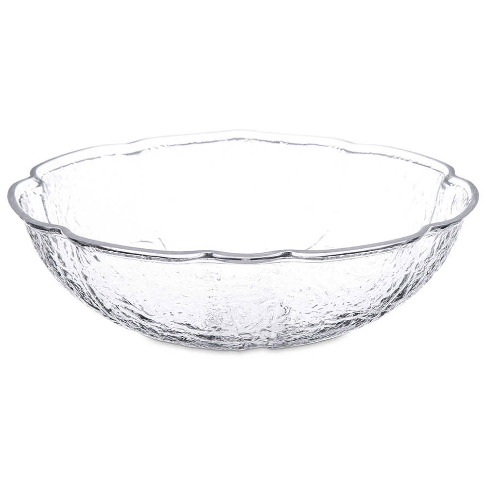 "Carlisle LB1207 11.25"" Round Serving Bowl w/ 3-qt Capacity, Acrylic, Clear"